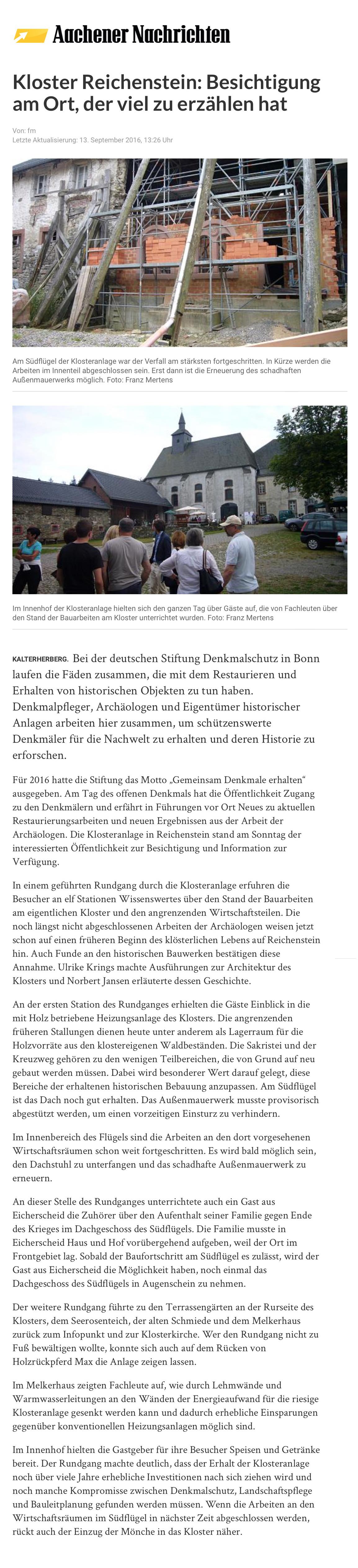 Kloster Reichenstein: Benediktiner der Tradition - Seite 4 - Kreuzgang